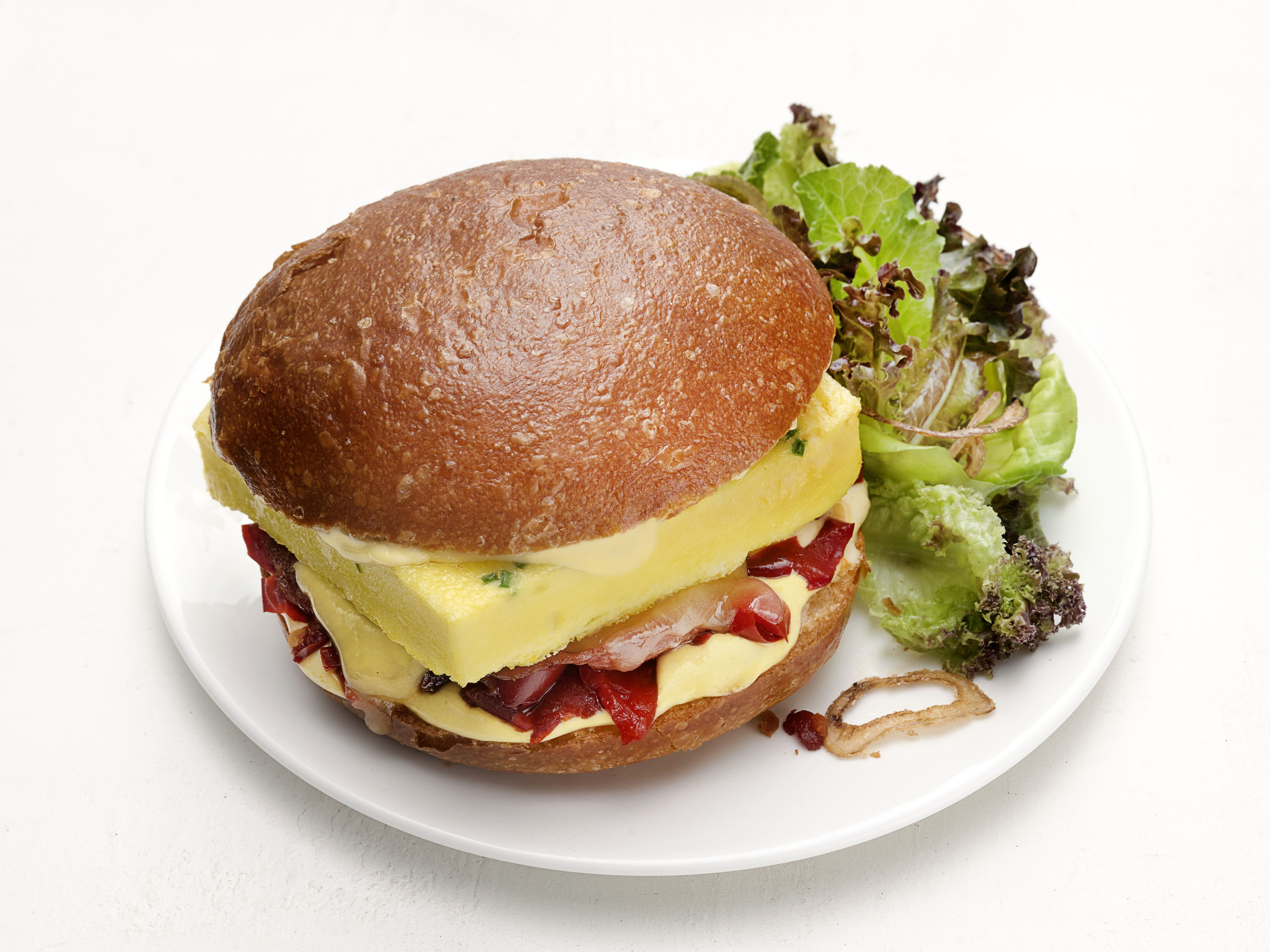 Baked egg and canadian bacon sandwiches recipe bacon sandwich baked egg and canadian bacon sandwiches forumfinder Image collections