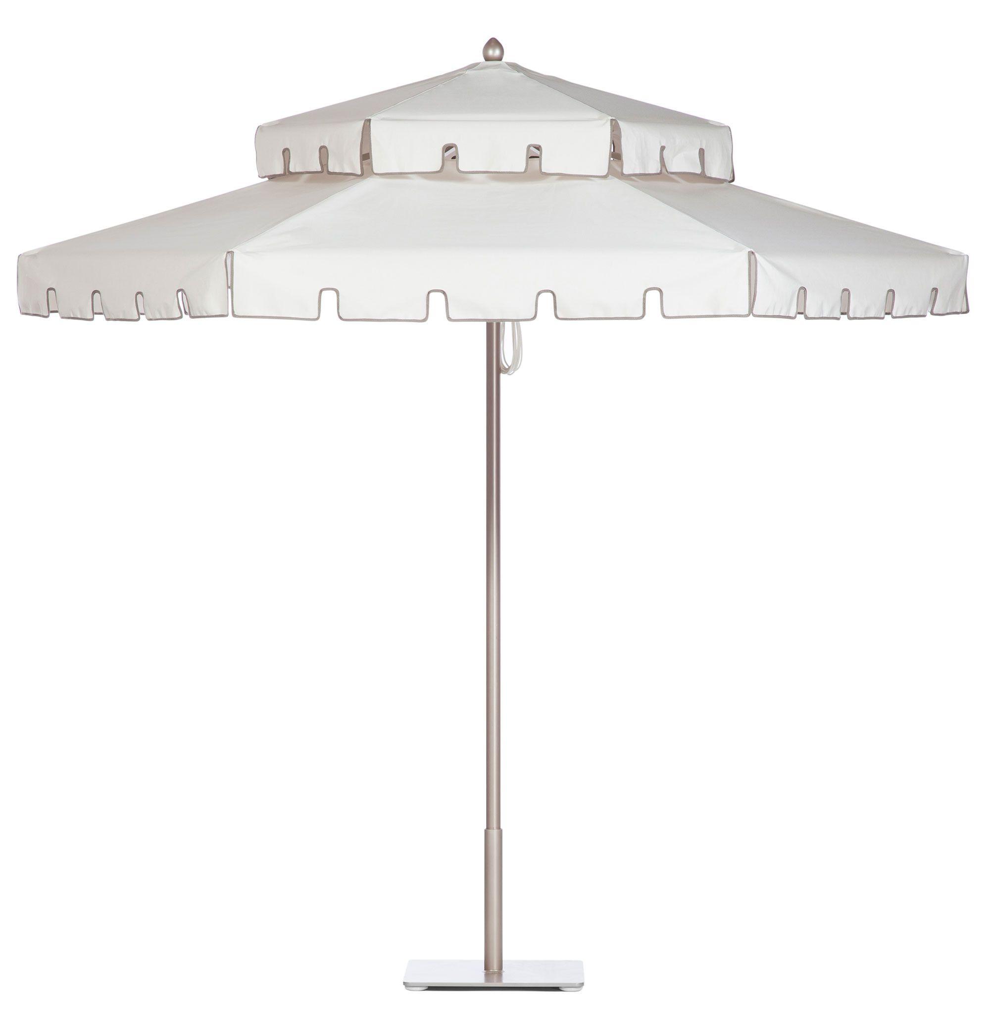 Double Decker Hexagon Umbrella With Keyhole Valance