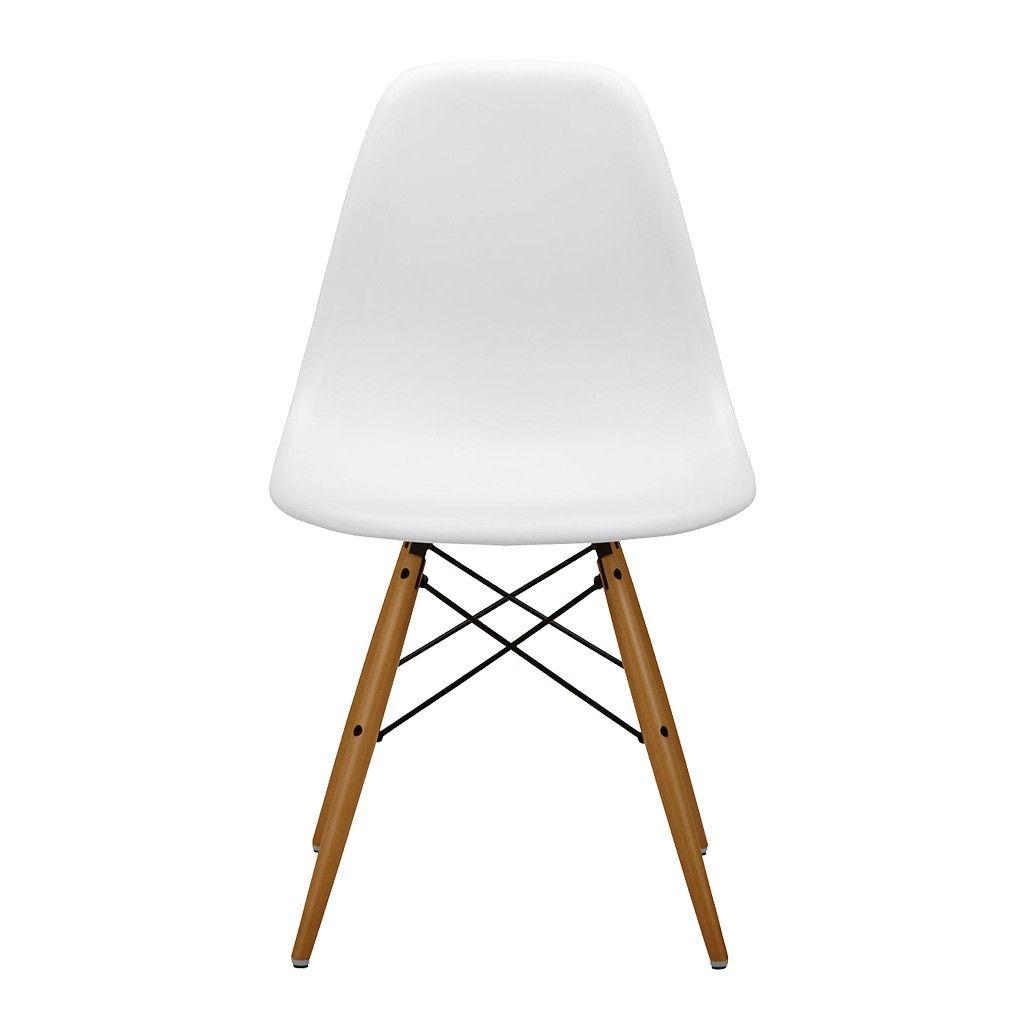 Chaise DSW blanche - piétement érable clair – Vitra | Eames dsw ...