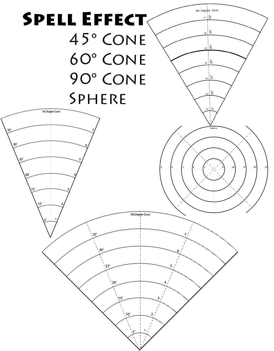 Spell Area Of Effect Cones Dungeon Masters Guild Dungeon Masters Guild Dungeon Master Dnd Minis Dnd Funny
