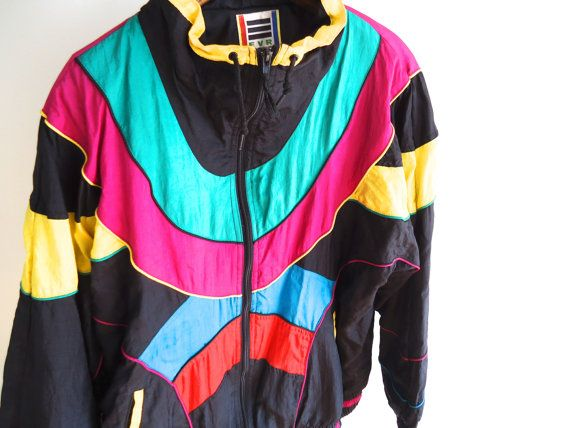 IN LIVING COLOR Nylon Windbreaker Vintage Men by GnarlyNutmeggers ...