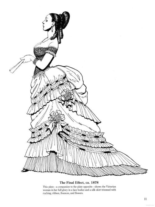 historical fashion coloring pages the final effect ca 1878 from late victorian and edwardian fashions source