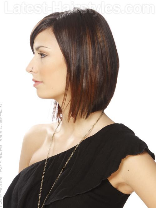 hair style bobs sleek layered cut with bangs view 2 for me 7107