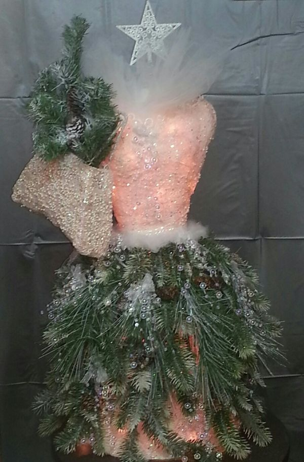 Tres Chic Christmas Tree from a decorative dress form