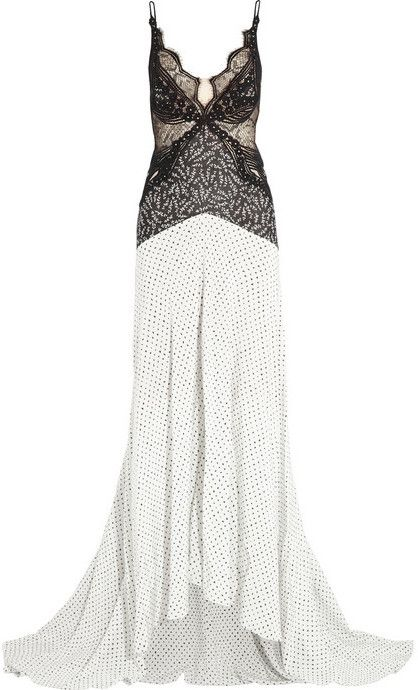 Stella McCartney Green Carpet Challenge: guipure lace and printed silk gown