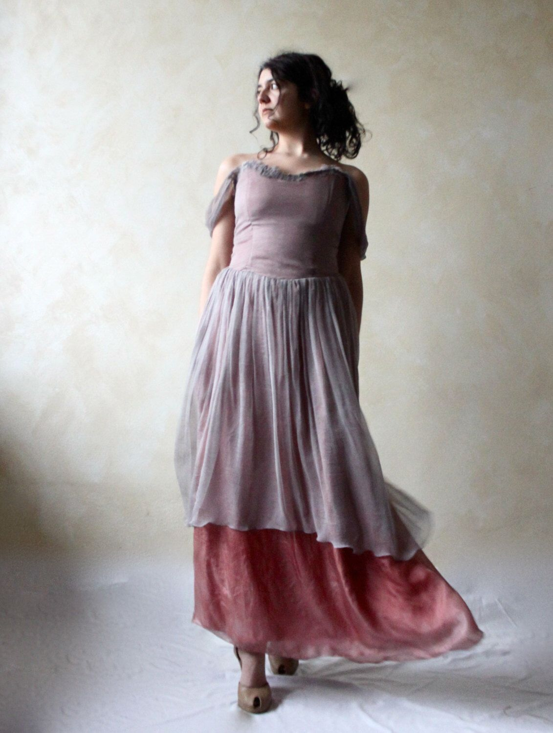 Alternative wedding dress bridal gown purple wedding dress boho