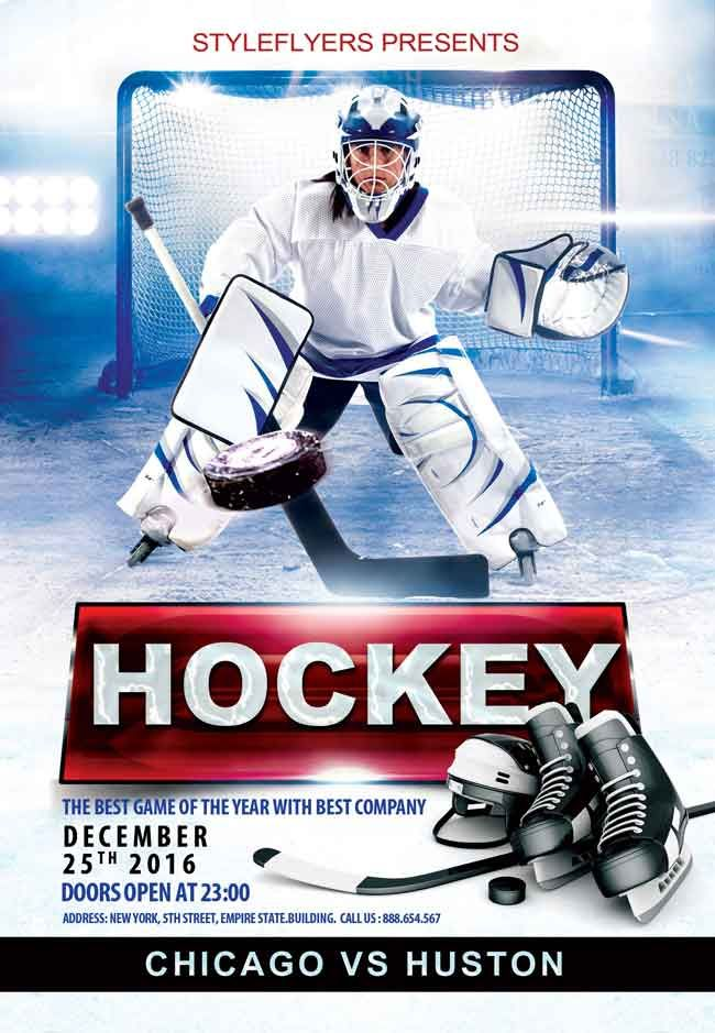 Free hockey psd flyer accessories pinterest psd flyer free hockey psd flyer maxwellsz