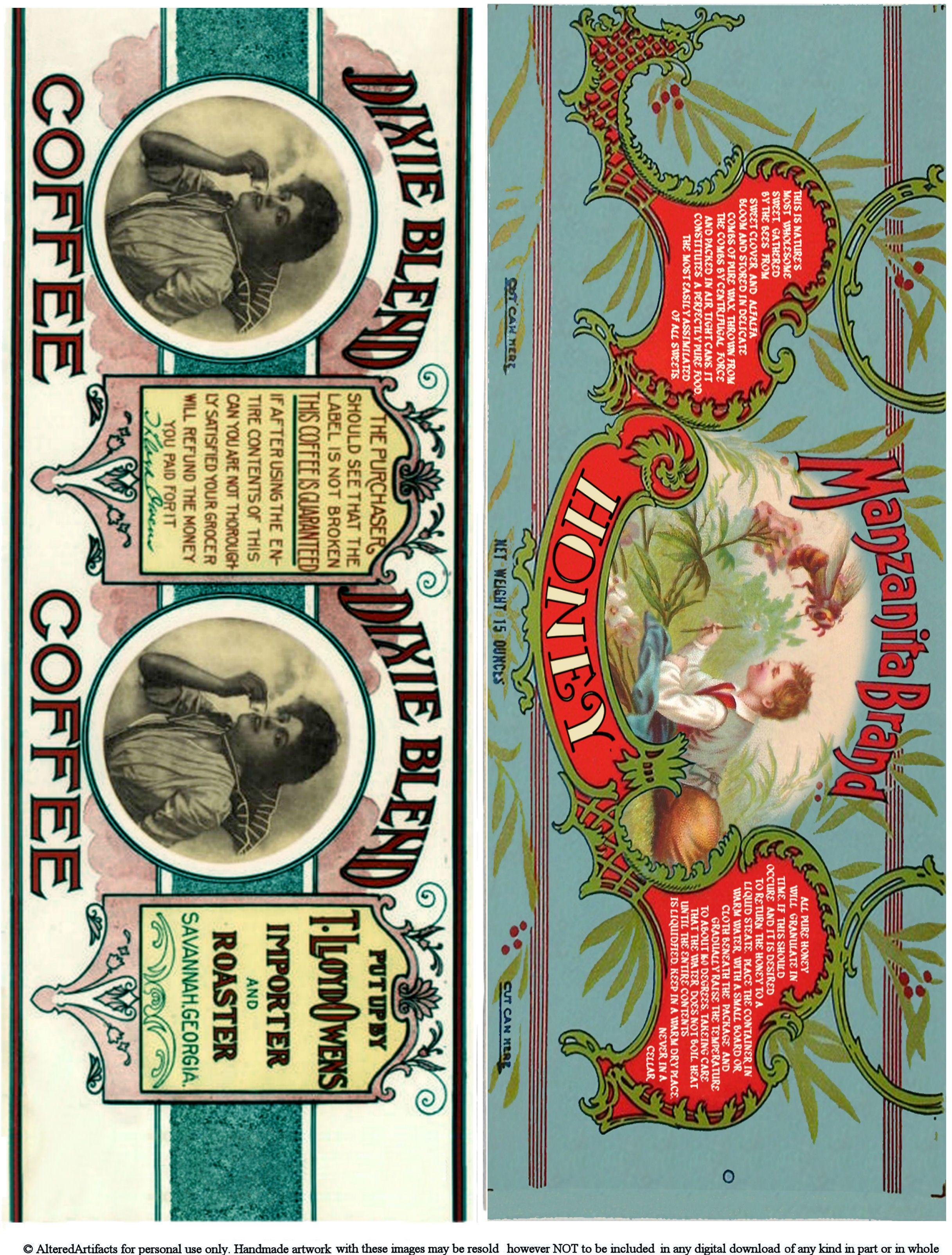 Free Printable Can Labels Vintage Brands Images For Decoupage and ...