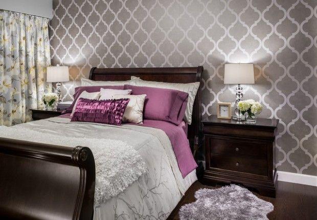 20 Master Bedroom Design Ideas in Romantic Style Verkleidung - tapeten design schlafzimmer
