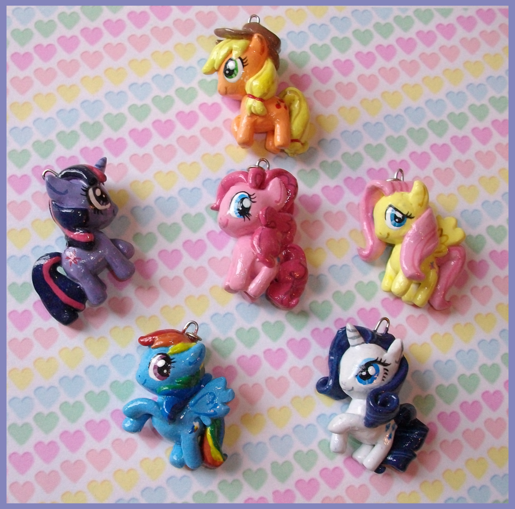 Mandypandaaiantart my little pony friendship is magic my first my little pony charms i made 2011 all my little pony characters are c to hasbro charms are made with sculpey iii clay painted with acrylic mozeypictures Gallery
