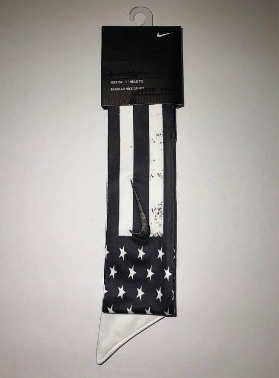 Star Spangled Custom Nike Dri-Fit Head Tie Headband American ... 8b4f2c90488