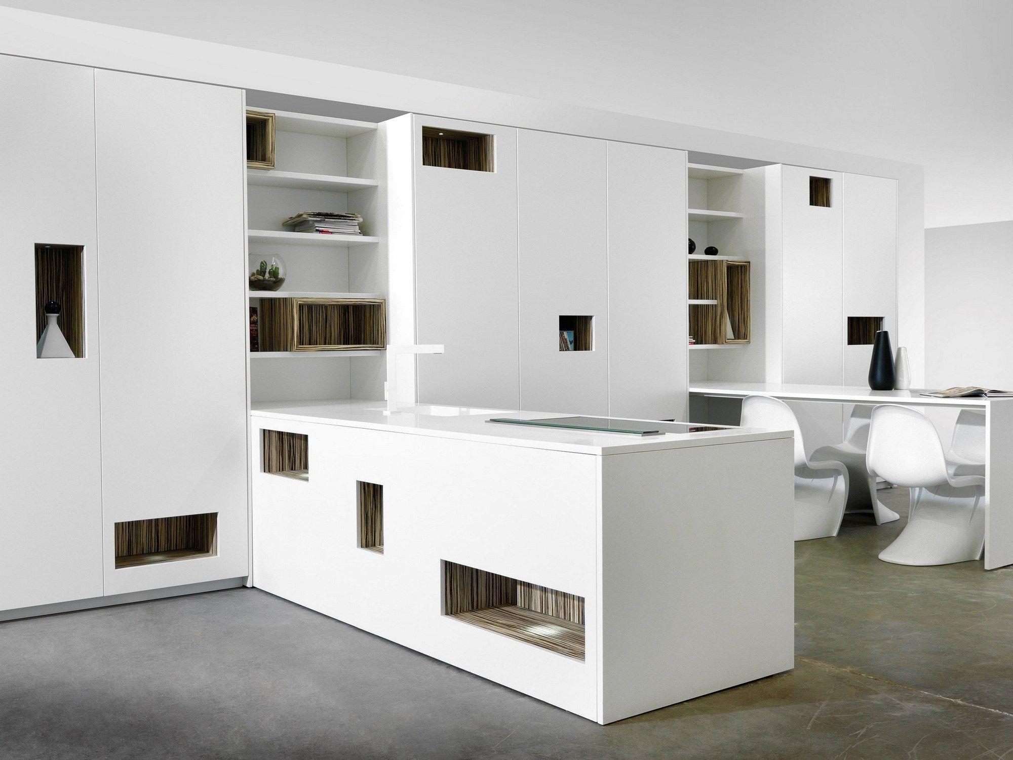 Corian® kitchen with peninsula MONDRIAN | Corian® kitchen - TM ...