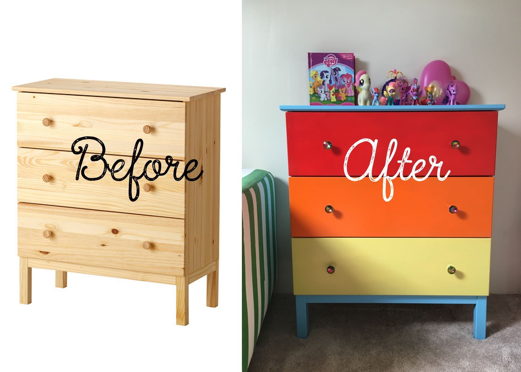 DIY My Little Pony Themed Bedroom - Ikea Hacks | Rainbow dash ...