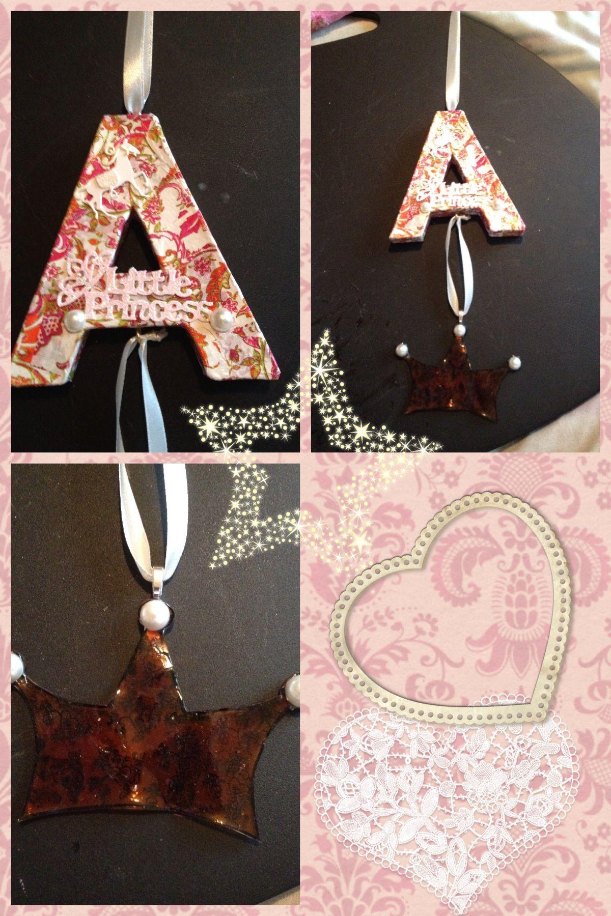 Decopatch decoupage letter for a little Princess\' room ...