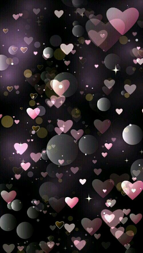 Floating Hearts Black And Pink
