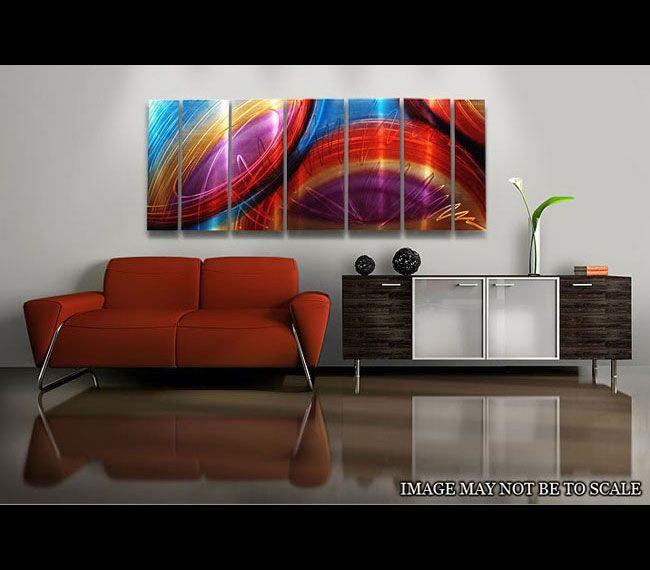 Accumbent Abstract Metal Wall Painting by Artist Jon Allen