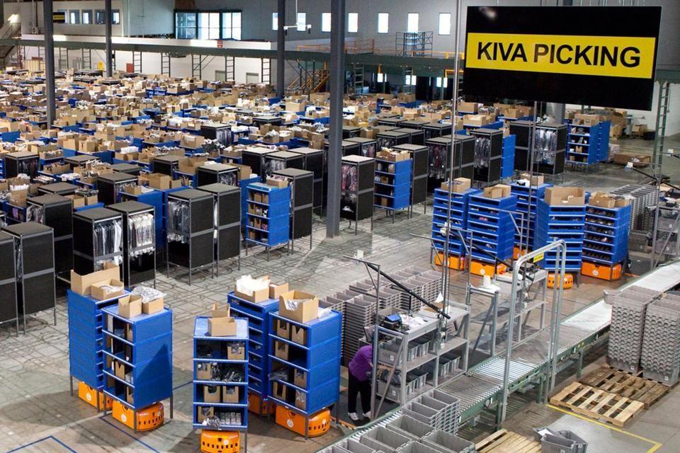 Kiva hasn't announced customers since Amazon bought it. KIVA acquisition puts Amazon rivals in awkward spot - via Boston Globe
