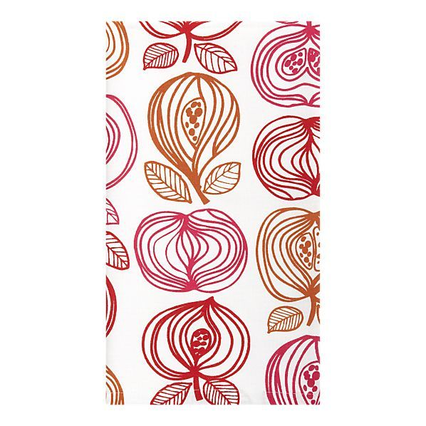 Repeated Contour Line Pattern Of Pomegranates Dishtowel
