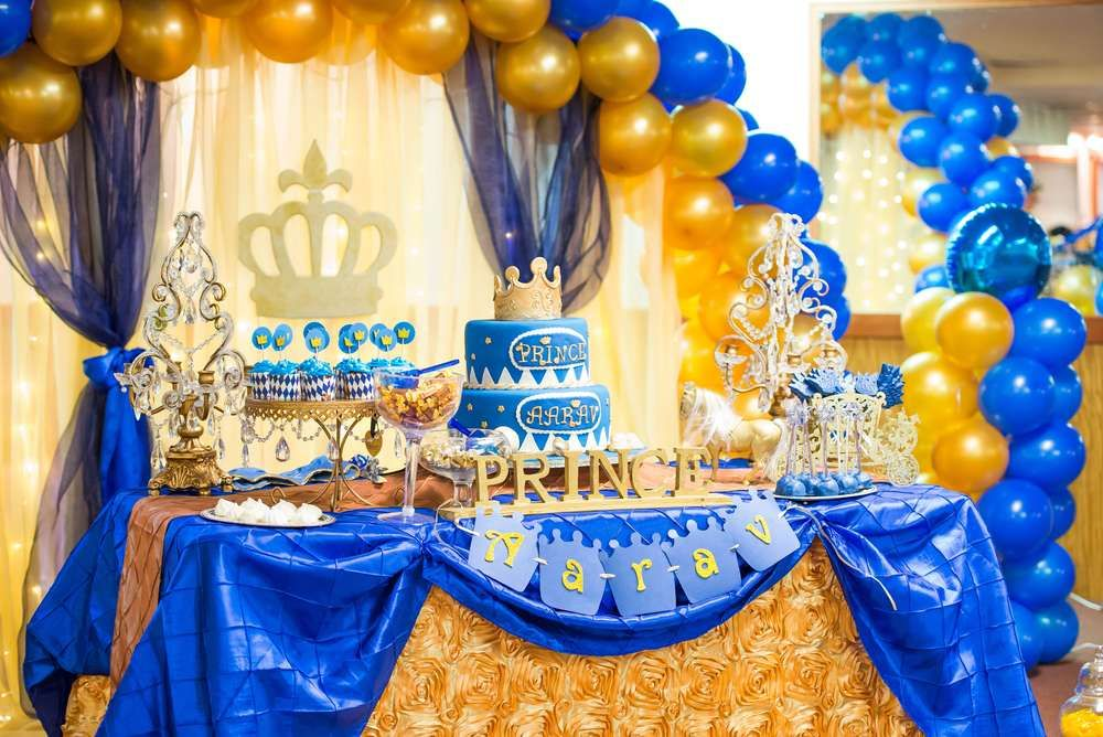 Prince Birthday Party Ideas Royal prince birthday party