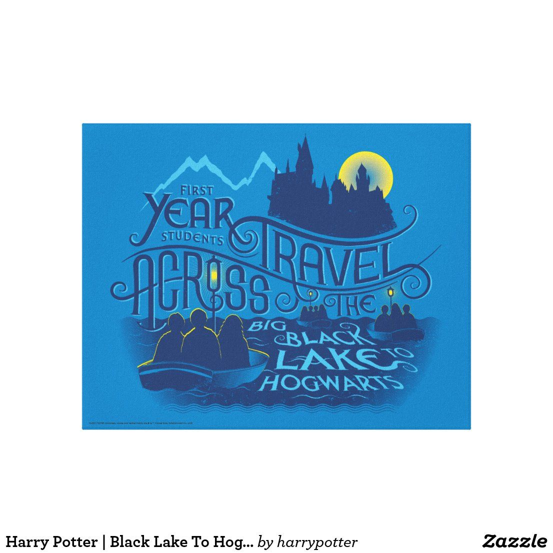 Harry Potter Black Lake To Hogwarts Canvas Print Zazzle Com Harry Potter Poster Canvas Prints Harry Potter