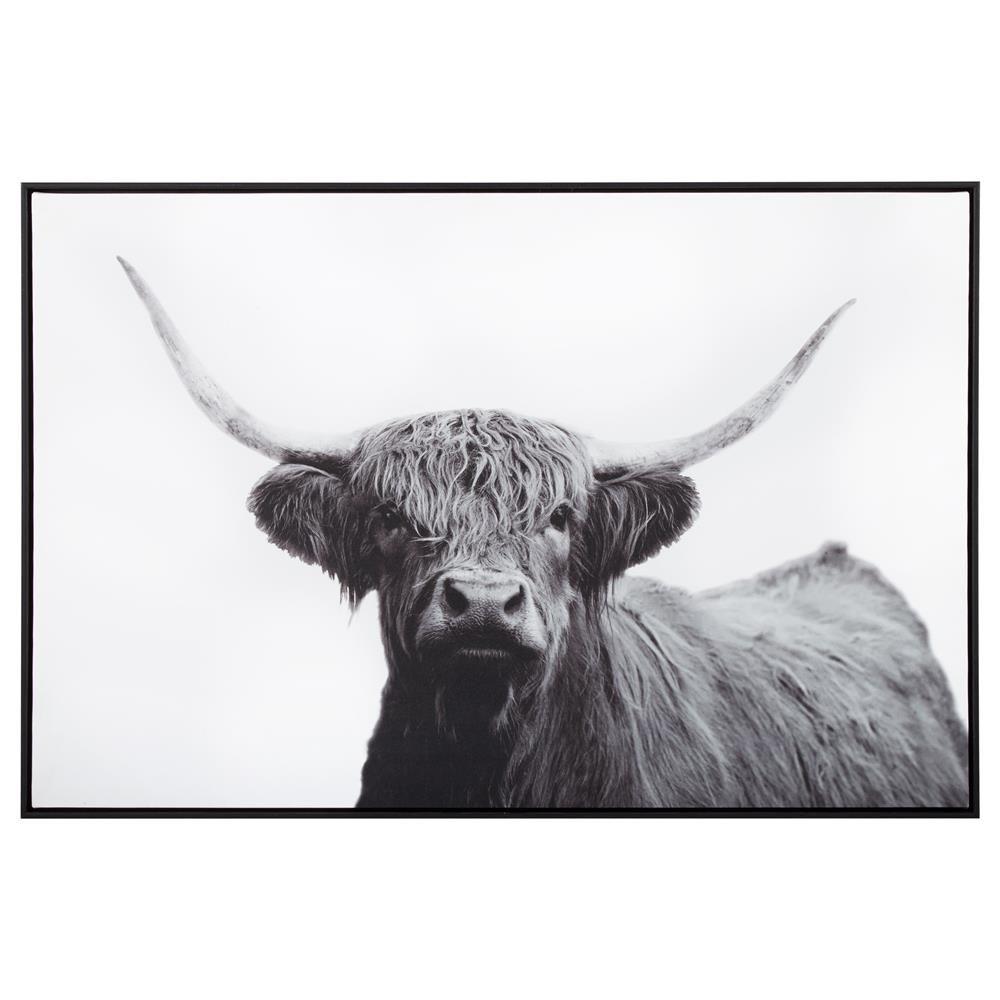 Highland Cow Printed Framed Art Highland Cow Print Cow Painting Framed Art
