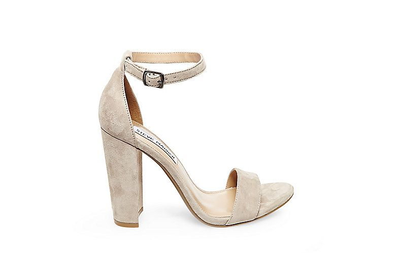 264c6da826d2 CARRSON - Get your block heel groove on in CARRSON. Features single band  across toe with adjustable buckle strap at ankle. This must-have sand