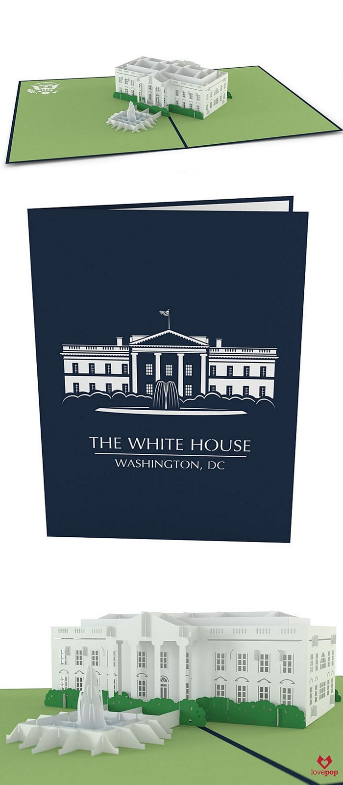 Washington Dc Popout Map%0A Celebrate a love for the USA with a paper art pop up White House in this