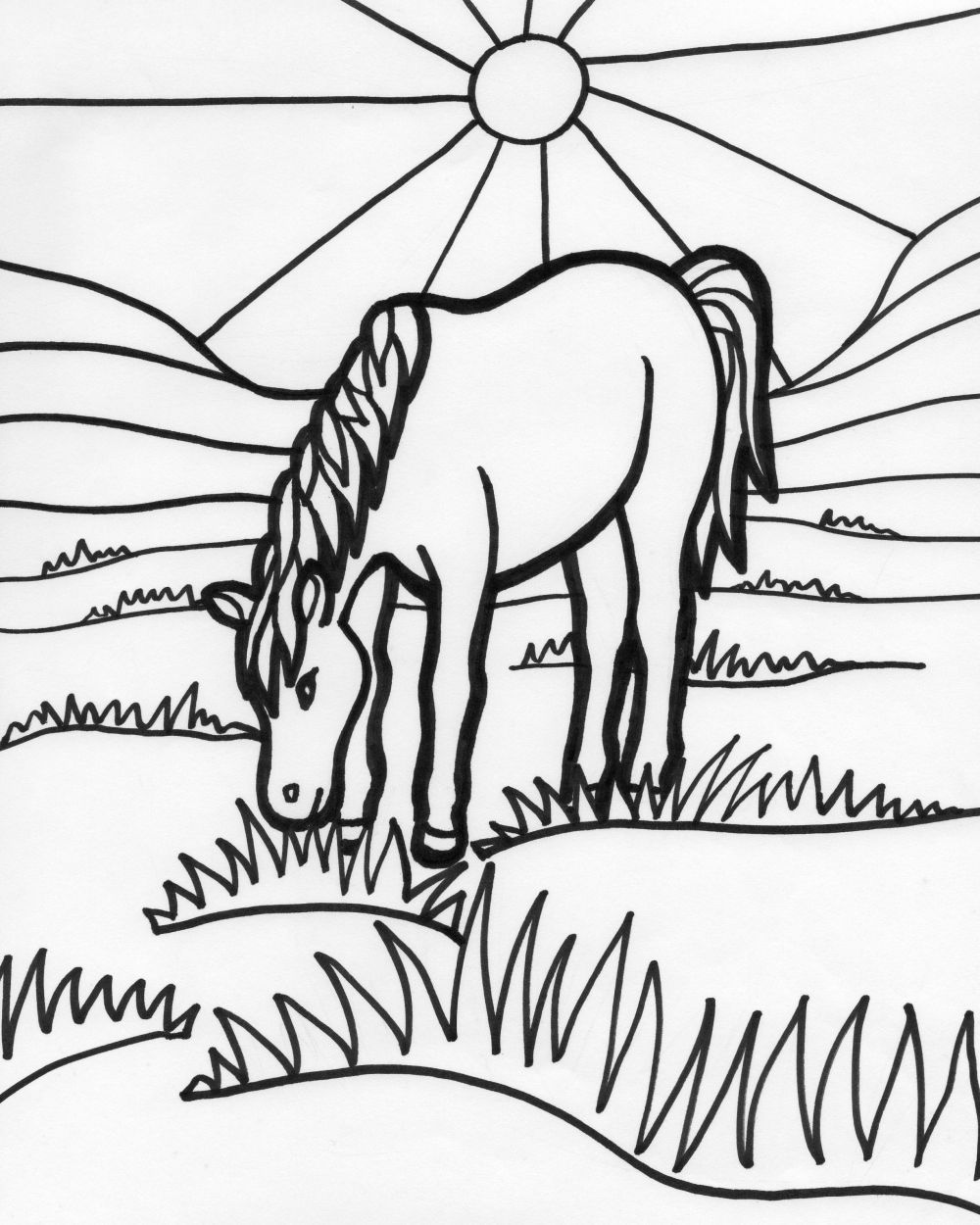 Horse Coloring Page | Just Horse \'n Around | Pinterest | Malvorlagen ...
