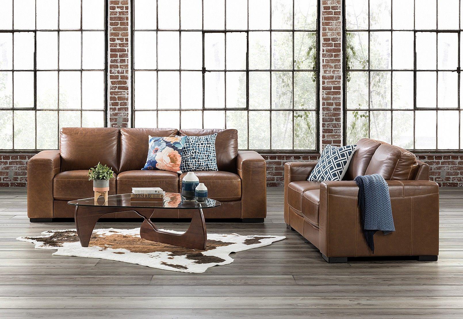 Pleasing Antonio Leather Sofa Pair Amart Furniture Interior Ibusinesslaw Wood Chair Design Ideas Ibusinesslaworg
