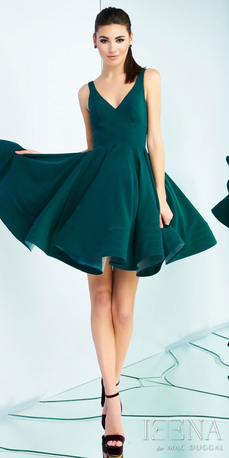 Classic fit and flare cocktail dress by ieena duggal in style