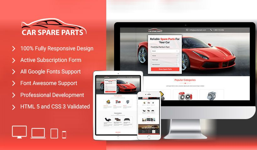 Car Spare Parts Landing Pages Include Landing Page For Car