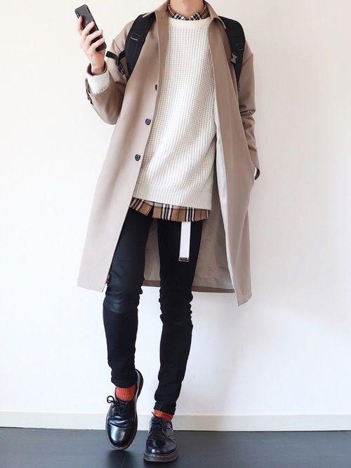 ステンカラーコートはダサいの?【調査してみる】
