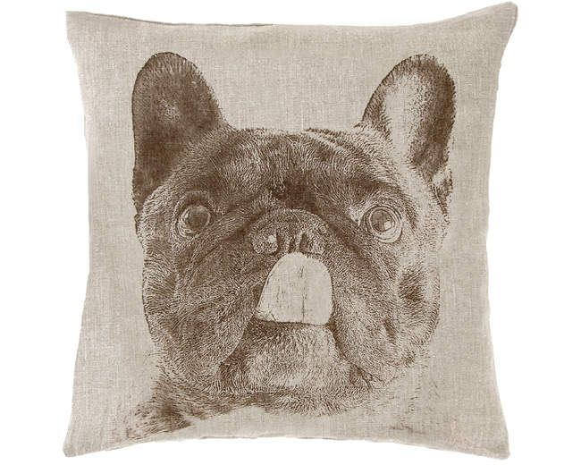 Pine Cone Hill French Bulldog Decorative Pillow Ships Free