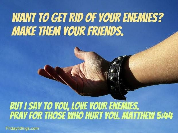 Image result for the best way to get rid of your enemies is to make them your friends.""