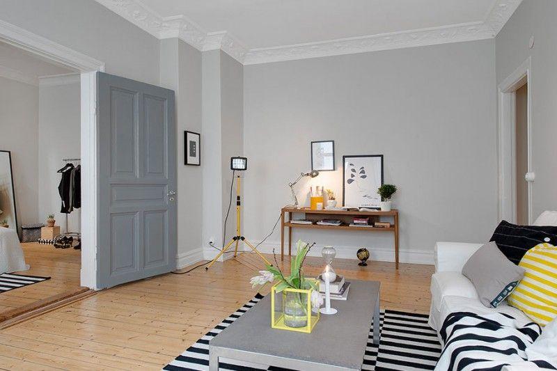 Scandinavian Design Hip And Fresh Apartment In Gothenburg Light Gray WallsGrey