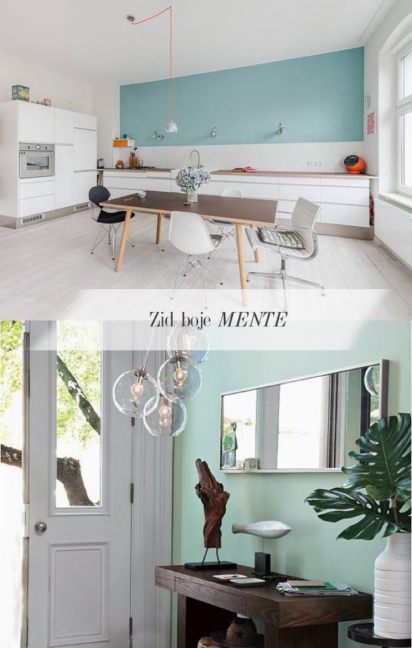 peinture vert menthe dekorum via nat et nature home work space pinterest salons interiors. Black Bedroom Furniture Sets. Home Design Ideas