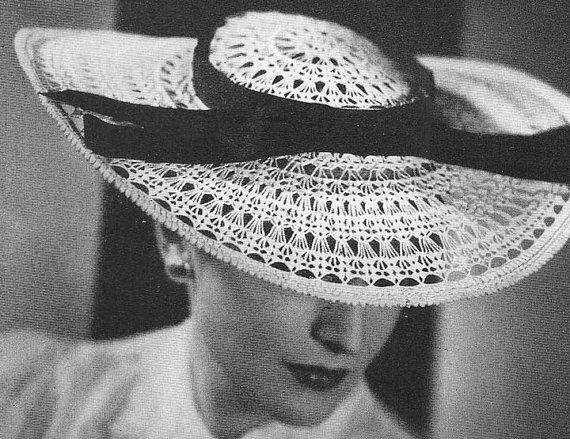 1939 Spitzen Hut Vintage Crochet Muster PDF 048 | CROCHET ...
