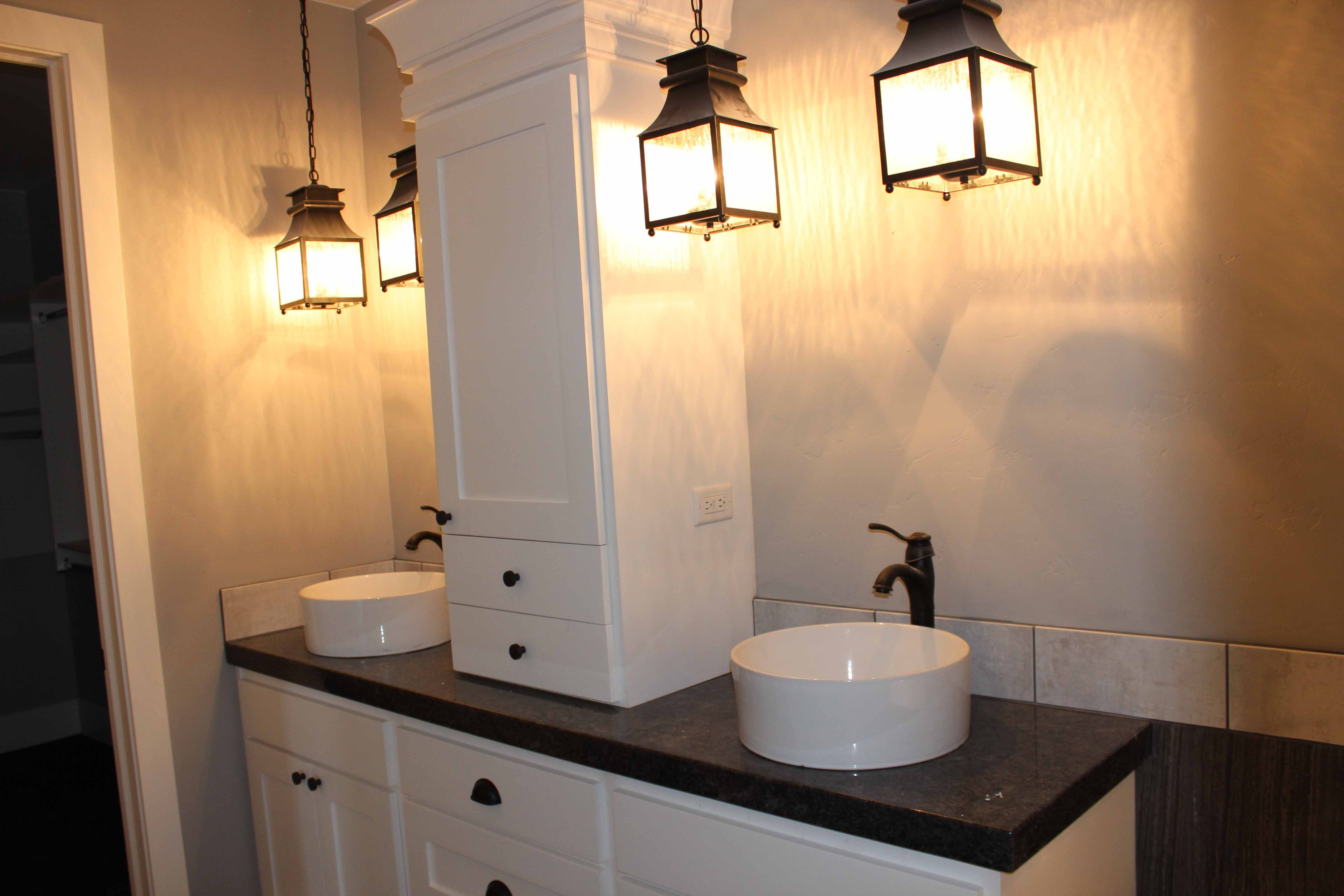 Hanging Lights in the Bathroom...plus, great ideas for all