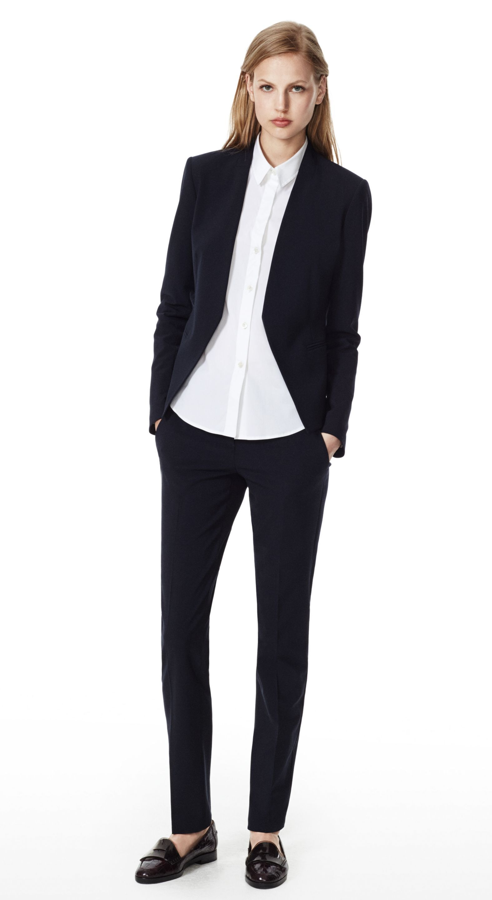 THEORY Uniform Lanai Jacket & Louise Pant in Urban Stretch Wool ...