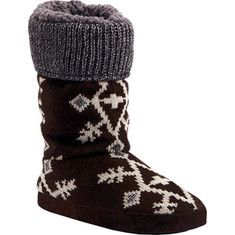 Size 7! Enjoy the snowflakes on your slippers by a warm fire with the MUK LUKS Vanessa Slipper Boot. This knit, snowflake patterned cuff slipper will hug your feet even on the coldest of days keep them toasty warm.