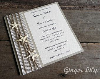 "Pin 18. Sandy Bay Rustic Beach Wedding Invitations being used to announce the venue and wedding date.  ""Ginger lily weddings, Sandy Bay Rustic Beach Wedding Invitation by GingerLilyWeddings. image. Available at: https://www.etsy.com/au/listing/212324741/sandy-bay-rustic-beach-wedding?ref=sr_gallery_1&ga_search_query=beach+wedding&ga_ref=auto1&ga_search_type=all&ga_view_type=gallery [Accessed March 1, 2015]"""