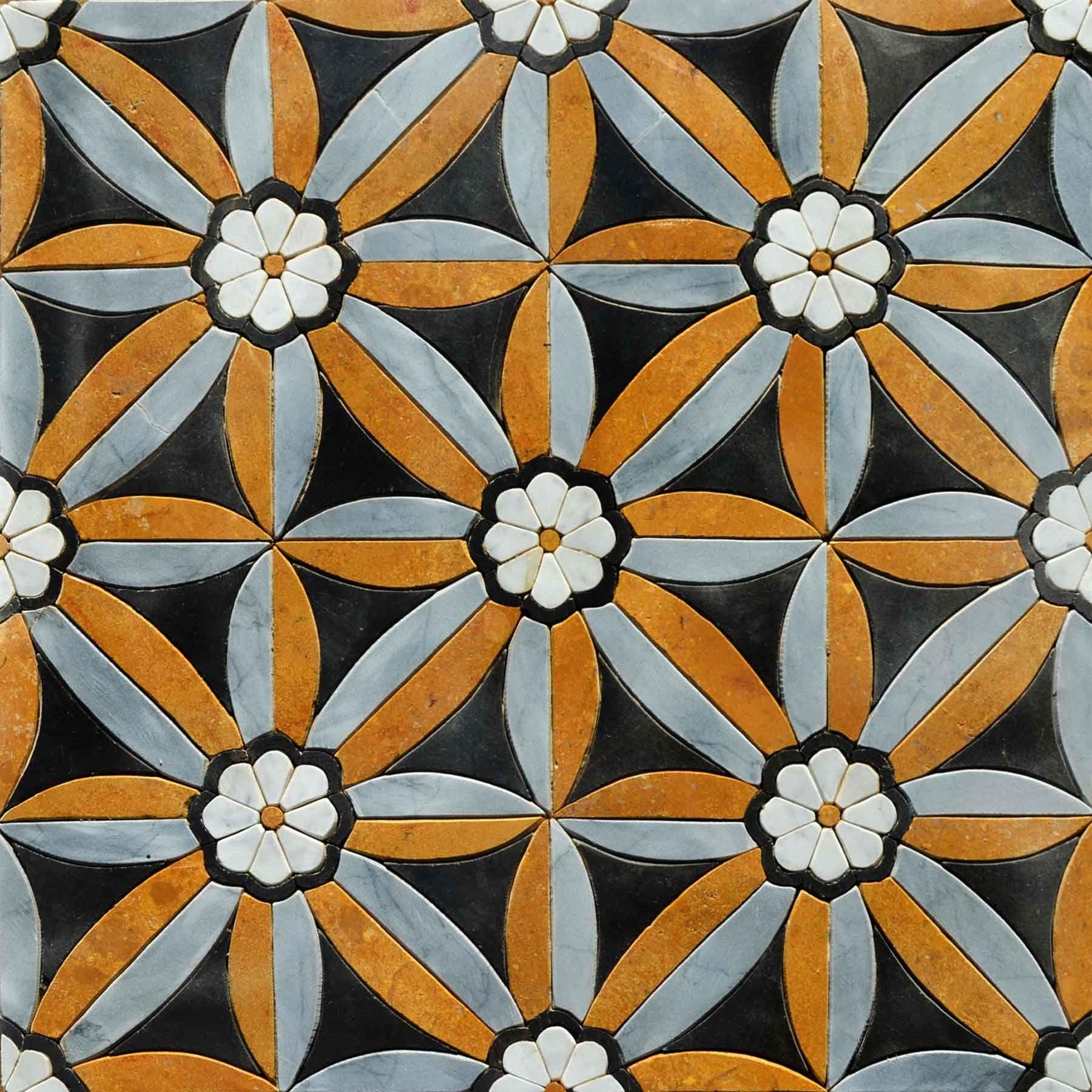 Geometric Floral Tile  Jaimie Mosaic