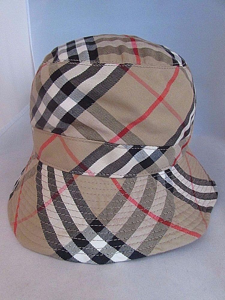 3b5d6e3b09b7 Vintage Authentic BURBERRYS Nova Check Plaid Bucket Hat England NWOT Size  Large  Burberry  Bucket  Any