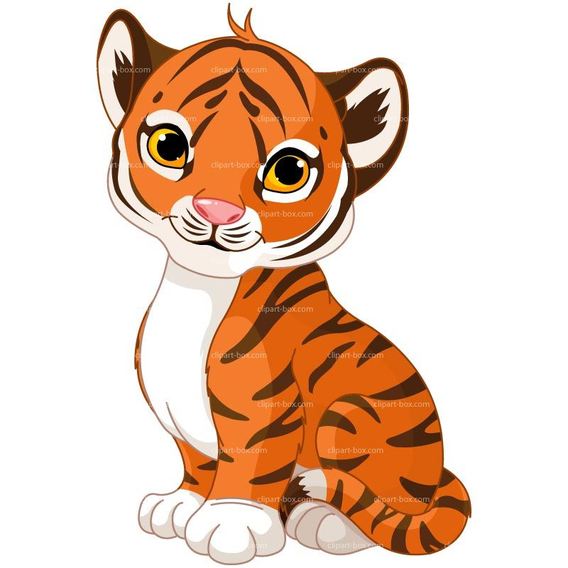 clipart baby tiger royalty free vector design animal art rh pinterest com tiger cub face clipart tiger cub clipart free