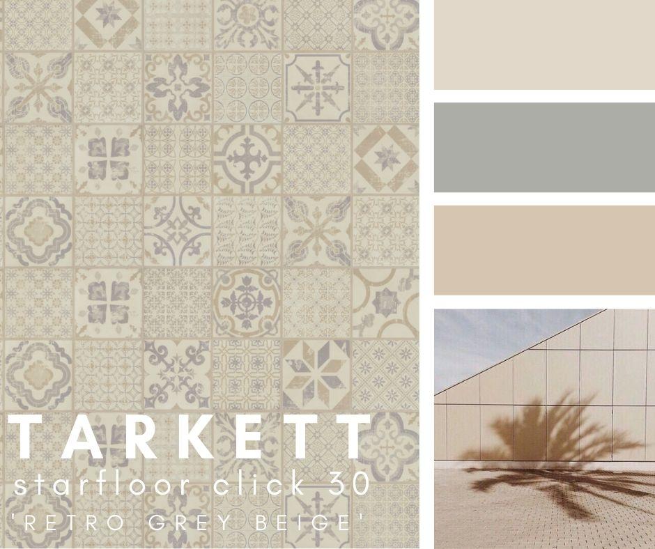 "Tarkett Starfloor Click 30 ""Retro Grey Beige"" Vinyl"