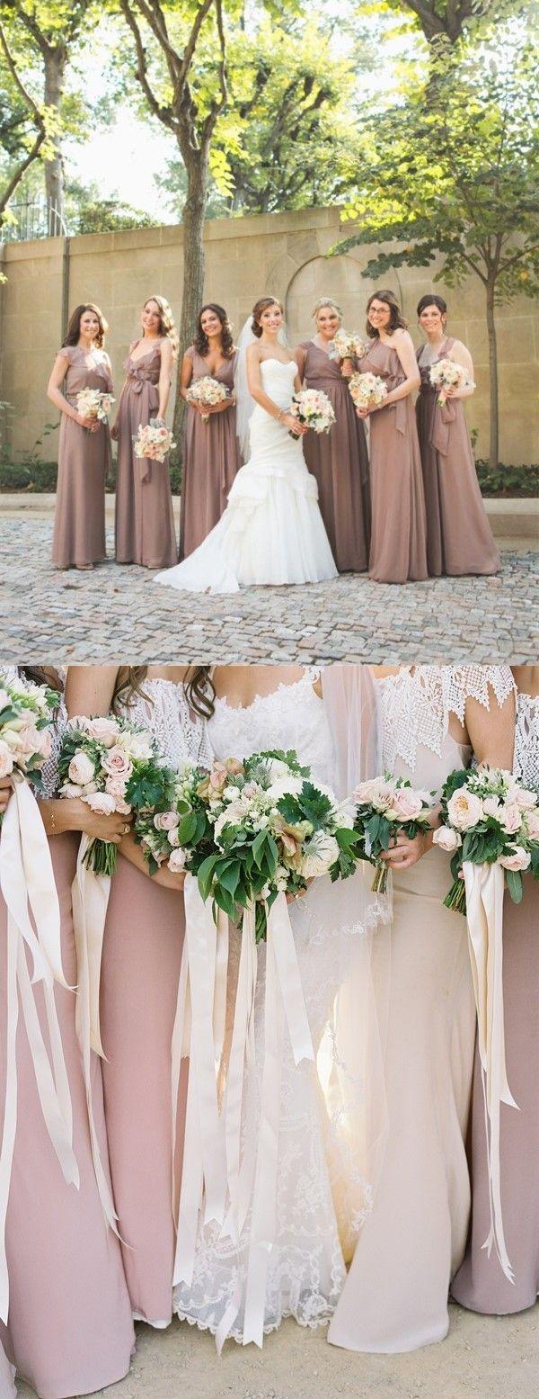 Aline one shoulder floorlength grown chiffon bridesmaid dress with