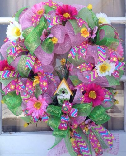 Spring Deco Mesh Wreath https://www.etsy.com/shop/IslandGirlWreaths?ref=l2-shopheader-name