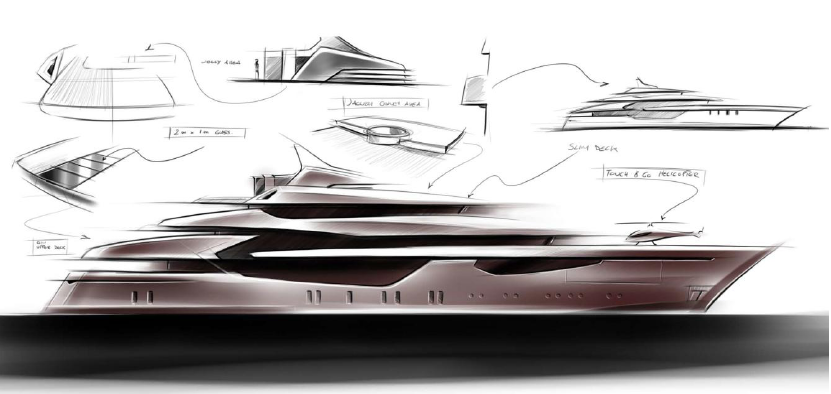 icon 73 milano yacht by hot lab design original 831 394 yacht boat sketches. Black Bedroom Furniture Sets. Home Design Ideas