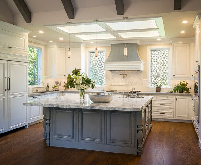 Best White Kitchen Gray Island Kitchen With White Perimeter 400 x 300