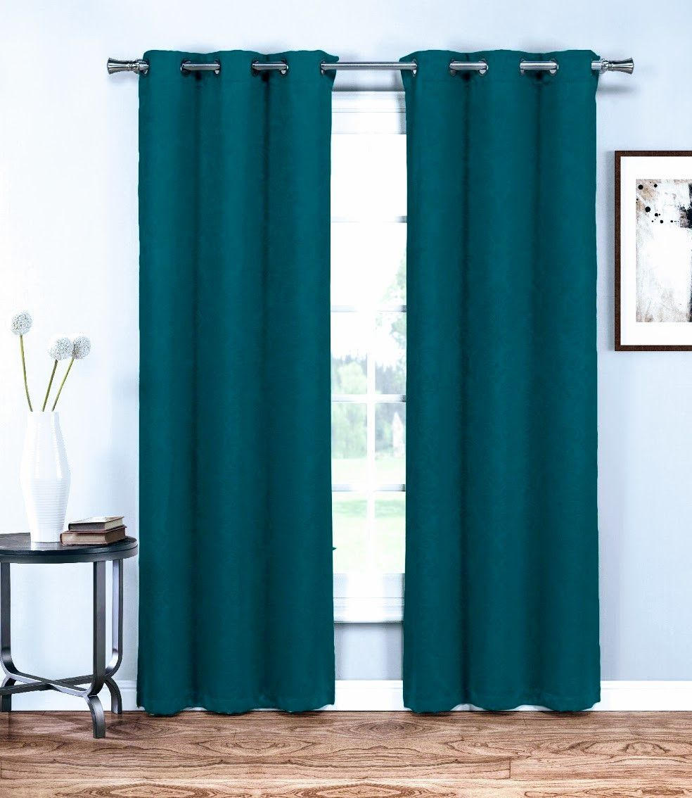 Warm Home Designs Embossed Textured Blackout Energy Efficient Teal ...